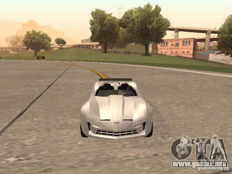Chevrolet Corvette C7 Spyder para GTA San Andreas vista hacia atrás