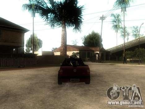 Volkswagen Saveiro Trooper CE para GTA San Andreas vista posterior izquierda