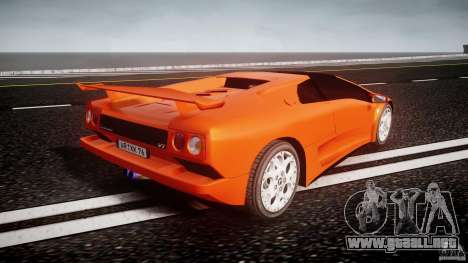 Lamborghini Diablo 6.0 VT para GTA 4 vista lateral