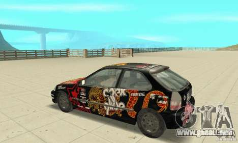Honda-Superpromotion para GTA San Andreas vista hacia atrás