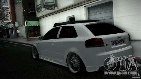 Audi S3 Euro para GTA San Andreas vista posterior izquierda
