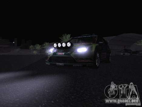 Ford Focus RS WRC 2010 para las ruedas de GTA San Andreas