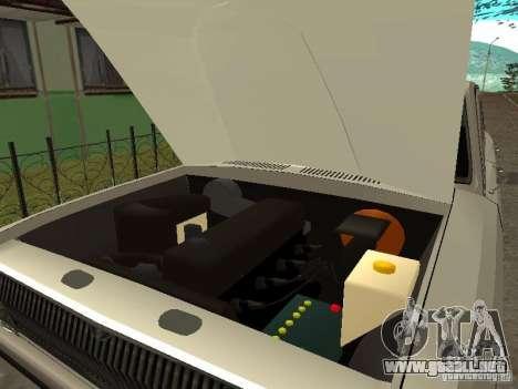 GAZ 24 para GTA San Andreas vista hacia atrás