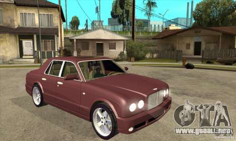 Bentley Arnage GT para GTA San Andreas vista hacia atrás