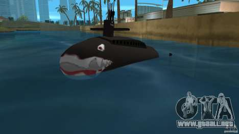 Vice City Submarine with face para GTA Vice City