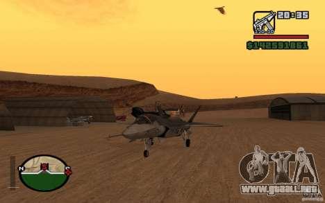F-35 Eagle para GTA San Andreas vista posterior izquierda