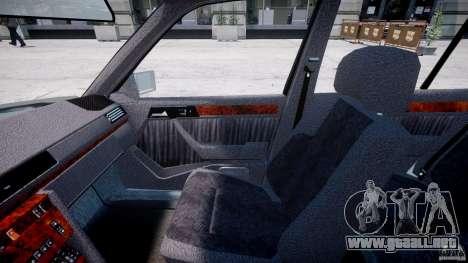 Mercedes-Benz W124 E500 1995 para GTA 4 vista hacia atrás