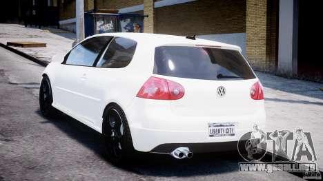 Volkswagen Golf 5 GTI para GTA 4 Vista posterior izquierda