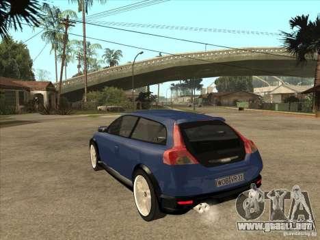 VOLVO C30 Sport 2009 para GTA San Andreas vista posterior izquierda