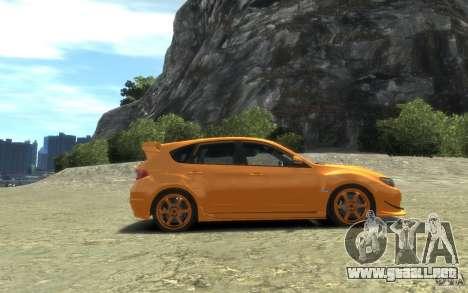 Subaru Impreza WRX STI Hatchback 2008 v.2.0 para GTA 4 left