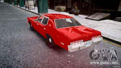 Dodge Monaco 1974 stok rims para GTA 4 Vista posterior izquierda