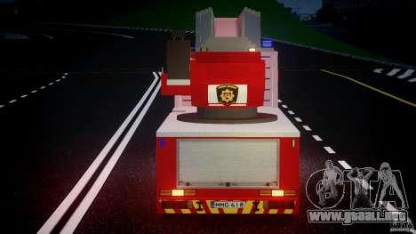 Scania R580 Fire ladder PK106 [ELS] para GTA 4 vista desde abajo