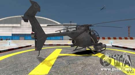 New AH-6 Little Bird para GTA 4 Vista posterior izquierda