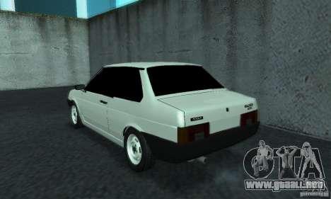 VAZ 21099 Coupe para GTA San Andreas vista posterior izquierda