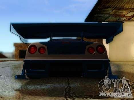 Nissan Skyline GTR34 DTM para visión interna GTA San Andreas