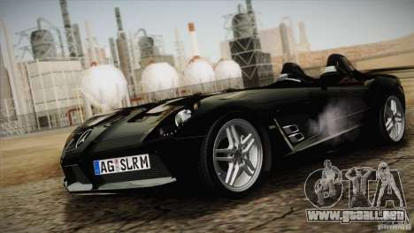 Mercedes-Benz SLR Stirling Moss 2005 para visión interna GTA San Andreas
