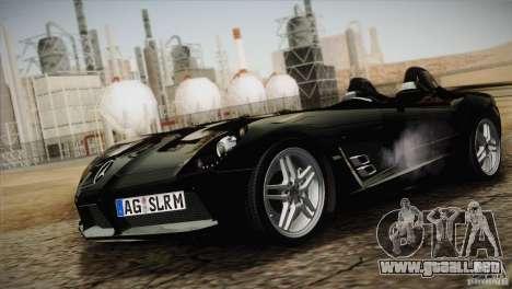 Mercedes-Benz SLR Stirling Moss 2005 para visión interna GTA San Andreas