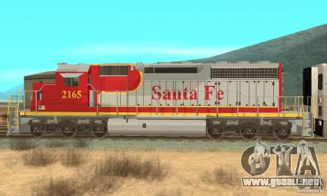 SD40 Santa Fe para GTA San Andreas left