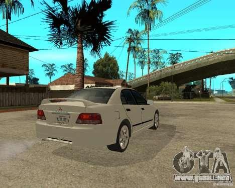 Mitsubishi Galant VR6 para GTA San Andreas vista posterior izquierda