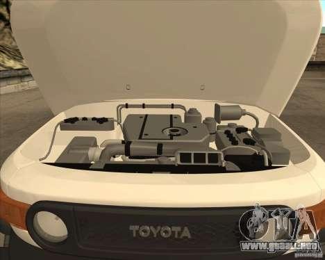 Toyota FJ Cruiser para la vista superior GTA San Andreas