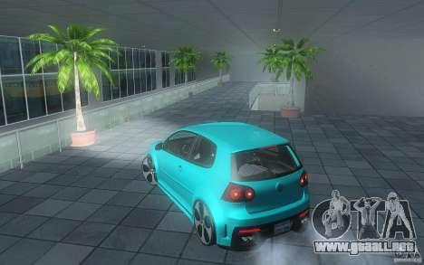VolksWagen Golf GTI W12 TT Black Revel para GTA San Andreas vista posterior izquierda