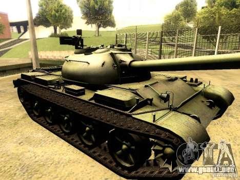 Type 59 V2 para GTA San Andreas vista hacia atrás