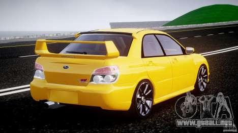 Subaru Impreza STI para GTA 4 vista lateral