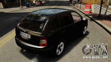 Skoda Fabia Combi Unmarked ELS para GTA 4 vista hacia atrás