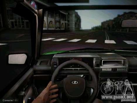 Taxi Vaz 2109 corto-kryloe para visión interna GTA San Andreas