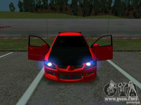 Mitsubishi Lancer Drift para visión interna GTA San Andreas