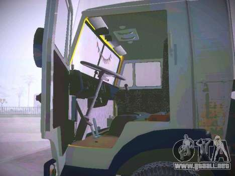 KAMAZ 5410 para GTA San Andreas vista hacia atrás