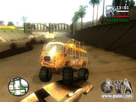 Bullet Storm Bus para GTA San Andreas vista posterior izquierda