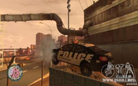 Ford Taurus Police para GTA 4 vista hacia atrás