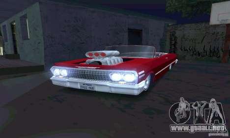 Chevrolet Impala 1963 Lowrider Charged para GTA San Andreas