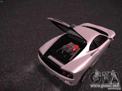 Ferrari 360 Modena para vista inferior GTA San Andreas