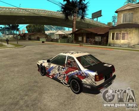 Yoshikazu AE86 para GTA San Andreas left