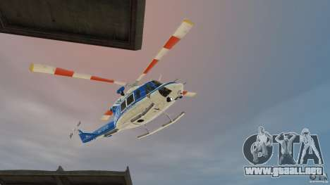 Bell412/NYPD Air Sea Rescue Helicopter para GTA 4 left