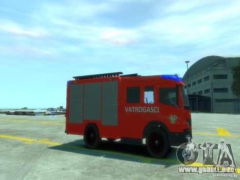 Mercedes-Benz Atego Fire Departament para GTA 4 visión correcta