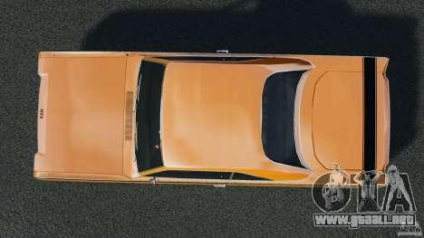 Dodge Dart GTS 1969 para GTA 4 visión correcta