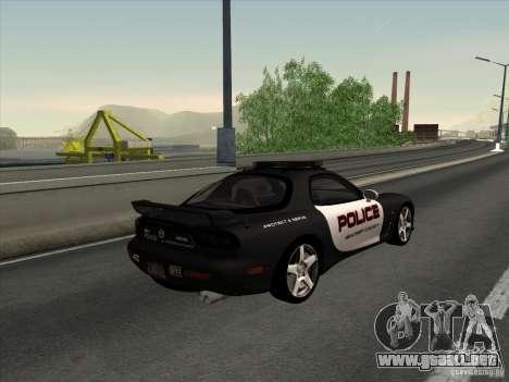Mazda RX-7 FD3S Police para GTA San Andreas left