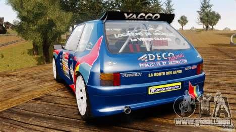Peugeot 205 Maxi para GTA 4 Vista posterior izquierda
