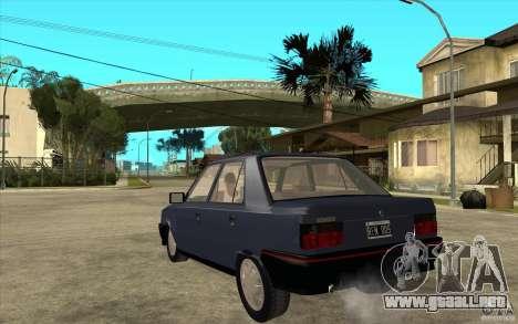 Renault 9 Mod 92 TXE para GTA San Andreas vista posterior izquierda
