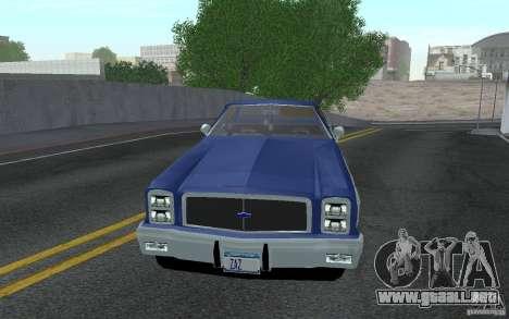 Chevrolet El Camino 1976 para GTA San Andreas left