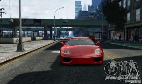 Ferrari 360 modena para GTA 4 vista hacia atrás