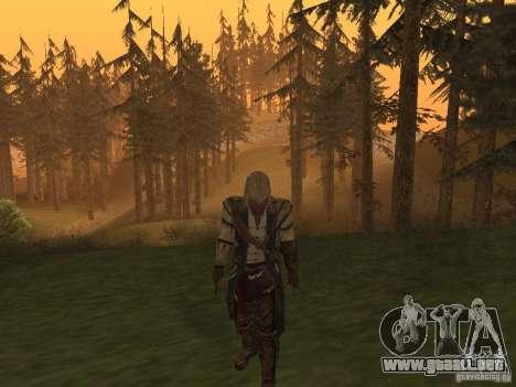 Connor From ACIII para GTA San Andreas segunda pantalla