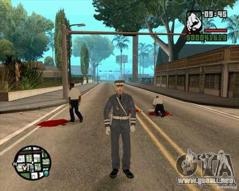 Servicio de seguridad ruso para GTA San Andreas sucesivamente de pantalla