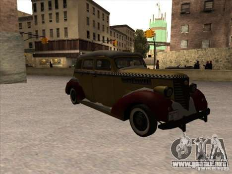 Shubert TAXI de MAFIA 2 para GTA San Andreas left