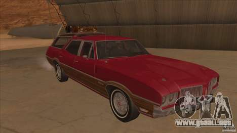 Oldsmobile Vista Cruiser 1972 para GTA San Andreas vista hacia atrás