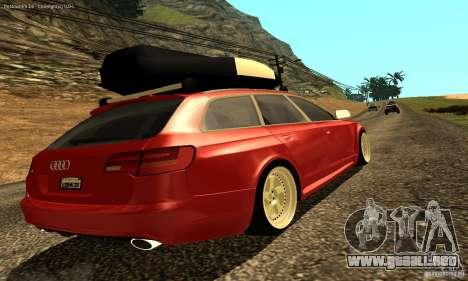Audi A6 Avant Stanced para vista inferior GTA San Andreas