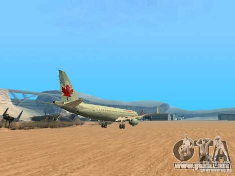Embraer ERJ 190 Air Canada para GTA San Andreas vista hacia atrás